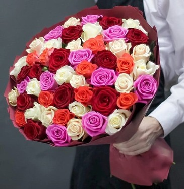 Bouquet 51 roses mix 60 cm №39